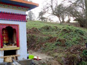 Inauguration du nouveau moulin à prière