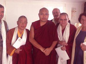 Le Vénérable Lama Gyourmé à eu une audience avec Sa Sainteté Le Karmapa
