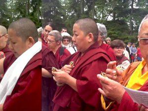 Consécration du nouveau moulin à prières de Vajradhara Ling
